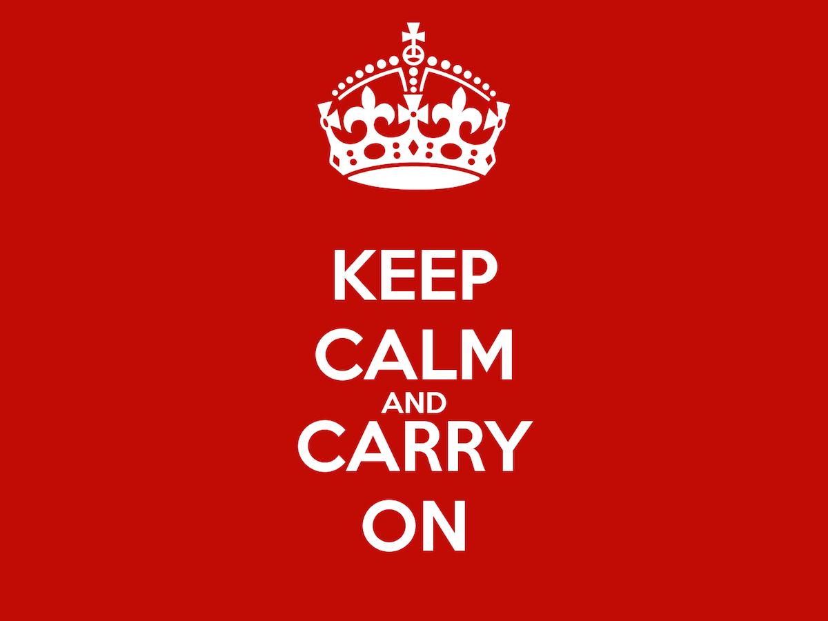 La vera storia di keep calm and carry on fluentify blog for Immagini di keep calm