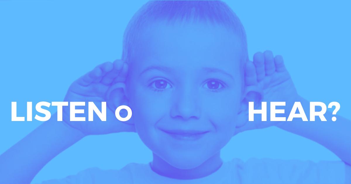 Comparazione Tra i Verbi Inglesi To Listen e To Hear